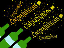 Cork popping congratulations illustration Stock Images