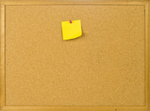 Cork posting board with blank note Royalty Free Stock Photography