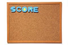 Cork raad met score verwoording Stock Afbeelding