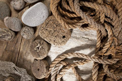 Cork and rope Royalty Free Stock Photo