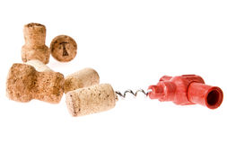 Cork-screw and cork Royalty Free Stock Photo