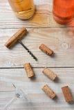Cork Screw Corks Bottles Fotografía de archivo libre de regalías