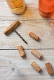 Cork Screw Corks Bottles Royalty Free Stock Photography