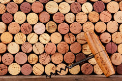 Cork Screw e cortiça antigos Foto de Stock Royalty Free