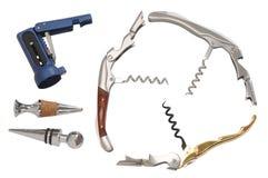 Cork screw. Isolated royalty free stock image