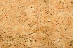 Cork sheet surface with coarse texture, macro photo Stock Photography