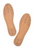 Cork shoe insoles, isolated on white Royalty Free Stock Photos