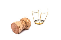 Cork for sparkling wine and champagne Stock Photo