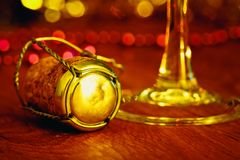 Cork from sparkling wine royalty free stock images