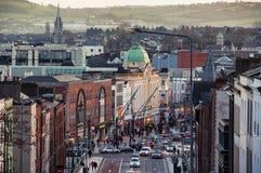 Cork stadscentrum Royalty-vrije Stock Afbeeldingen
