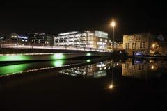Cork stadsnacht Royalty-vrije Stock Afbeeldingen