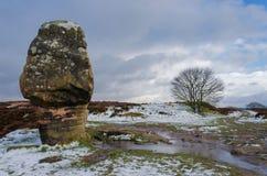 Cork Stone bei Stanton Moor stockfotografie