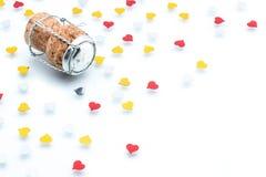 Cork - Stopper with heart Shape, Celebration valentine's day Stock Photography