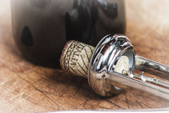 Cork stopper of italian wine Royalty Free Stock Photos