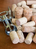 Cork stoppers. Opener and host cork stoppers Stock Photography