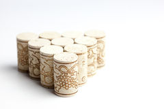 Cork stoppers on white Royalty Free Stock Photography