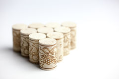 Cork stoppers on white. Some cork stoppers shoot on white Royalty Free Stock Images