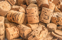 Cork stoppers for wine bottles Royalty Free Stock Photos