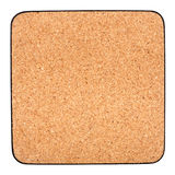 Cork table coaster Royalty Free Stock Image