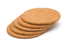 Cork table coasters Royalty Free Stock Photo