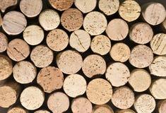 Cork texture. Texturd background of cork bottle top Stock Photo