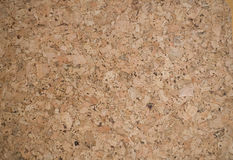 Cork texture. Close up of cork-board background brown texture Stock Photos