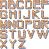 Cork_texture_alphabet Imagens de Stock Royalty Free