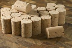 Cork tops. Group of cork tops,horizontal composition Stock Photos
