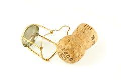 Cork van Champagne stock foto