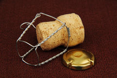 Cork van Champagne. Stock Afbeelding
