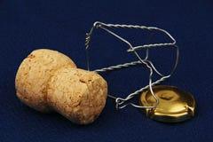 Cork van Champagne. Stock Afbeeldingen