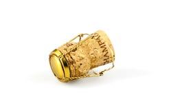 Cork van Champagne met muselet Royalty-vrije Stock Afbeeldingen