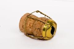 Cork van Champagne (verlaten mening) Royalty-vrije Stock Foto