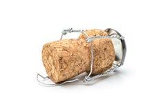 Cork van champagnefles Stock Afbeeldingen