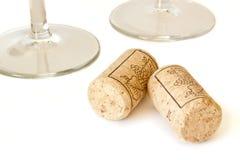 Cork van de wijn stock afbeelding