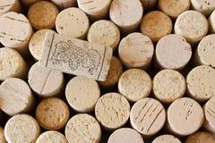 Cork van de wijn achtergrond stock afbeelding