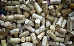 Cork van de wijn Achtergrond Stock Afbeeldingen