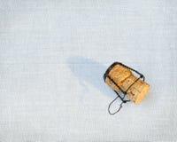 Cork van een fles champagne Stock Foto's