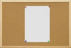 Cork van het bureau raad met lege kaart Royalty-vrije Stock Foto