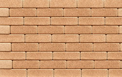Cork wall of bricks Background Stock Photography