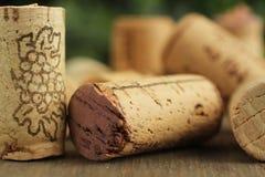 Cork wijn royalty-vrije stock foto's