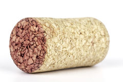 Cork of wine. With a visible staining of the red wine Stock Photo