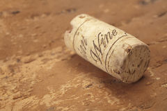 Cork on wood Stock Photo