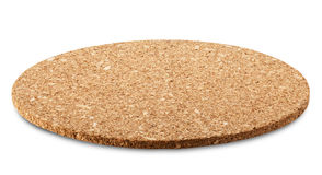 Cork wood. Stand for a hot cup of cork wood. Clipping Path Royalty Free Stock Photos