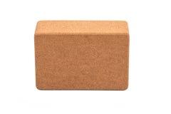 Cork Yoga Block, Eco Friendly Premium Quantity. Cork Yoga Blocks Eco Friendly Isolated on White Background Stock Photography