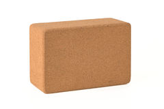 Cork Yoga Blocks Eco Friendly a isolé sur le fond blanc Image libre de droits