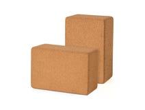 Cork Yoga Blocks Eco Friendly lokalisierte auf weißem Hintergrund, Prem Stockfotos