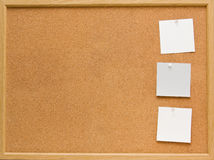 Corkboard. Brown corkboard with important message Stock Images