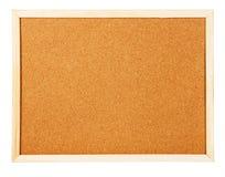 Corkboard auf weißem Hintergrund Lizenzfreie Stockfotografie