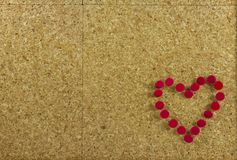 Corkboard background with heart Royalty Free Stock Photo